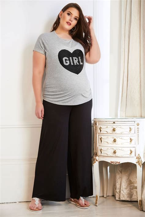bump   maternity black palazzo trousers  comfort