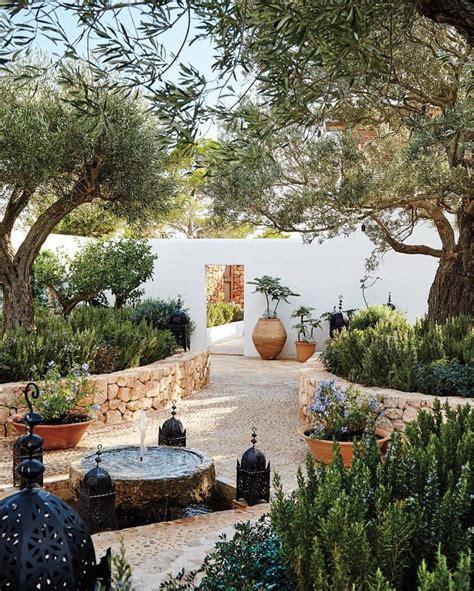 mediterranean garden ideas  pinterest