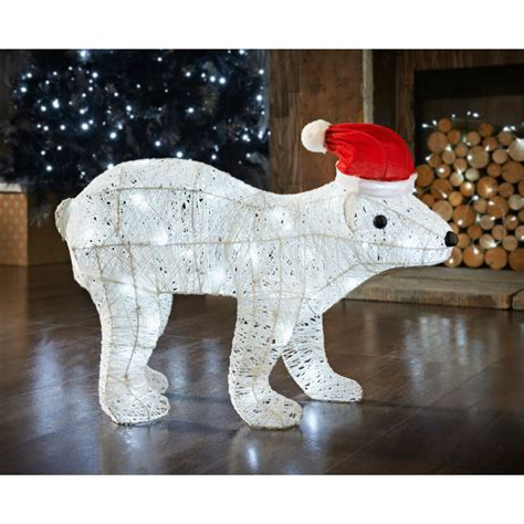 polar bear 60cm light up christmas decorations b m