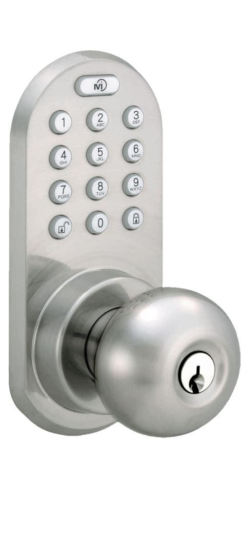 keypad door knob milocks blekk 02 keyless entry knob door lock with