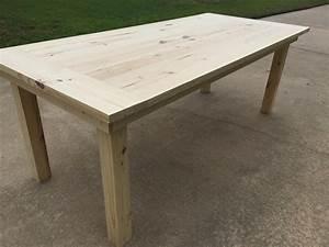Simple Farm Table - buildsomething com