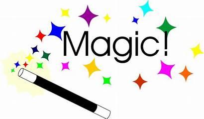 Magic Wand Stars Text Illustration