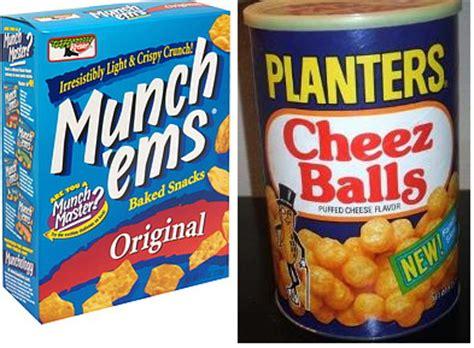 discontinued foods bracket munch ems  planters cheez balls  good blog