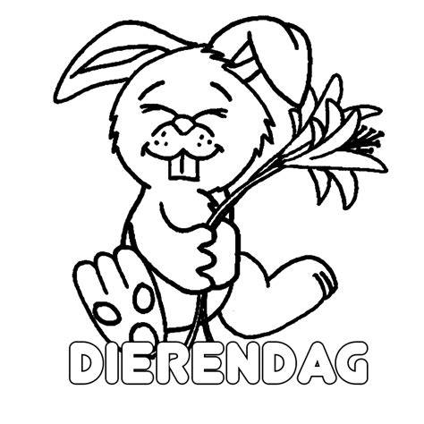 Kleurplaat Dierendag by Leuk Voor Dierendag 0009