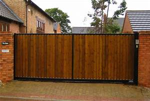 Wood Sliding Driveway Gates — Home Ideas Collection