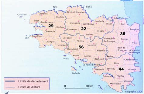Carte De Avec Villes Principales by Carte De Bretagne Avec Villes Principales 187 Vacances