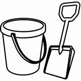 Bucket Shovel Coloring Sand Clipart Template Printable Drawing Spade Pail Clip Castle Pattern Place Sketch Cliparts Clipartmag Clipartbest Ball Utilising sketch template
