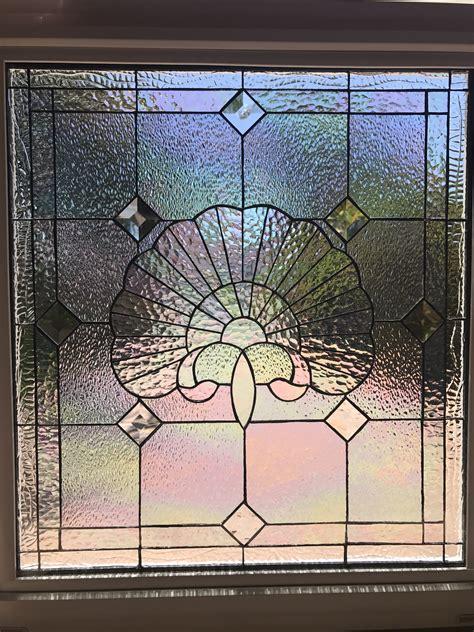 vinyl framed  tempered glass insulated iridescent