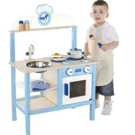 cuisine dinette bois cuisine de dînette en bois mixte bleue chez les enfants
