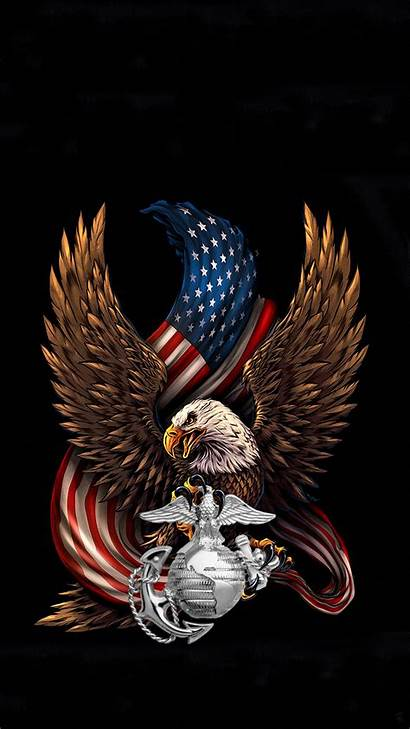 Usmc Iphone Marines Wallpapers Eagle Flag Background