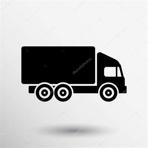 Camión icono vector carga aislado entrega símbolo vehículo ...