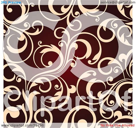clipart illustration   background  beige leafy scroll