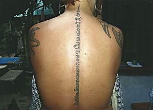 Thai Script Up the Back - Big Magic Tattoo, Koh Phangan ...
