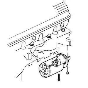 Starter Removal 1994 Oldsmobile 3800 Motor
