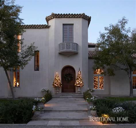 christmas   spanish mission style home traditional home