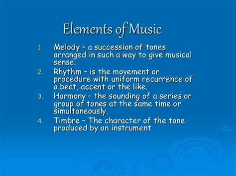 Principal theme is clearly stated at the beginning and goes through a series of variations. Elements of Music