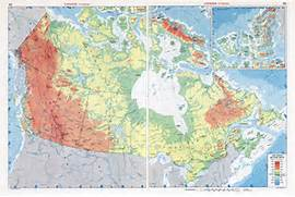 Large scale physical map of Canada  Canada large scale physical map      Canada Physical Map