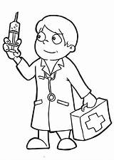 Doctor Coloring Pages Doctors Holding Needle Clipart Paper Clipartbest Az Popular Utilising Button Piece sketch template