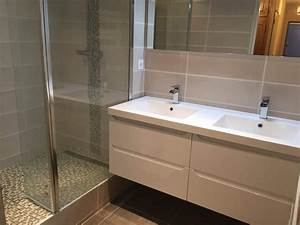 Renover Faience Salle De Bain : salle de bains en travertin sur vitrolles carrelage ~ Premium-room.com Idées de Décoration