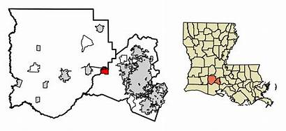 Acadia Louisiana Duson Parish Svg Highlighted Unincorporated