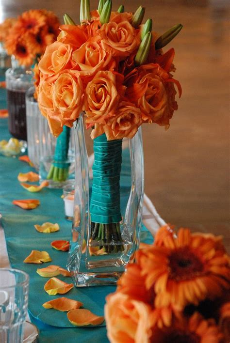 vibrant  fun fall wedding centerpieces deer pearl