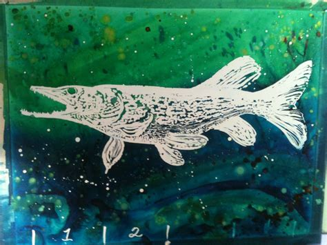 pike colors color cat studios northern pike painting in progress