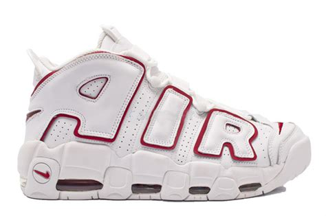 Light Up Air Jordans by Cheap Nike Air More Uptempo White Varsity Red