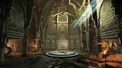 Ruins Hall Entrance Elven Dragon Age Upper