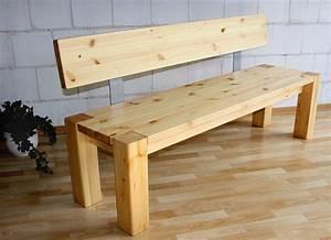 Sitzbank Mit Lehne Holz : sitzbank 180x86x47cm mit r ckenlehne kiefer massiv gelaugt ge lt ~ Frokenaadalensverden.com Haus und Dekorationen