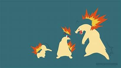 Typhlosion Quilava Cyndaquil Wallpapers Deviantart