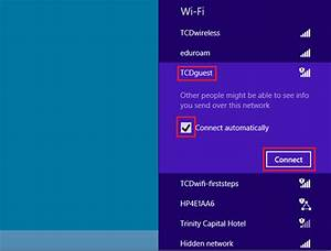 Guest Wi-fi - Windows 8 Connection Instructions