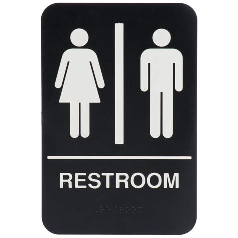 Bathroom Sign by Black And White Unisex Restroom Sign With Braille 9 Quot X 6 Quot