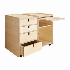 Bureau Sur Roulette : elitta bureaux naturel bois habitat ~ Teatrodelosmanantiales.com Idées de Décoration