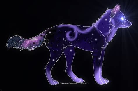 Blue And Purple Wolf Wallpaper by Galaxy Wolf Edition Adoptable 1 By Vanillaadog On Deviantart