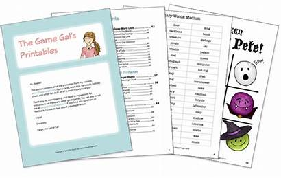 Pictionary Games Word Christmas Gal Words Printables