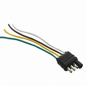 Trailer Wiring Harness Extension 4 Pin Male Plug Flat Wire