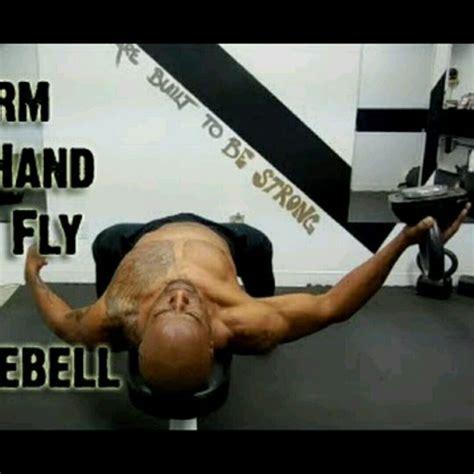 chest kettlebell flies skimble workout