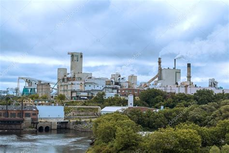 Domtar paper mill in town of Espanola, Ontario Canada ...