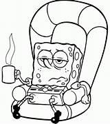 Coloring Pages Spongebob Sick Cartoon Characters Bob Sheets Printable Colouring Blank Cartoons Squarepants Sponge Christmas Drawings Gary Drawing Clipart Colors sketch template