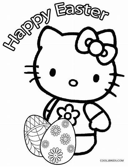 Easter Coloring Egg Kitty Hello Eggs Printable