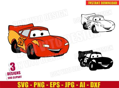 lightning mcqueen cars  svg cut file  cricut