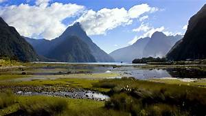 Milford Sound Or Piopiotahi In Maori Is Fjord Southwest Of The South Island Of New Zealand