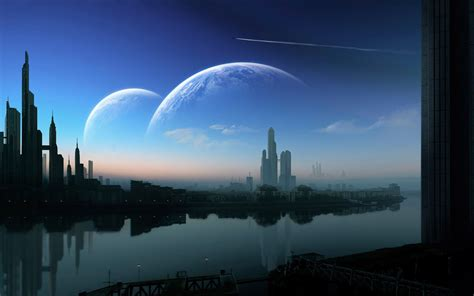 futuristic cities wallpaper wallpapersafari