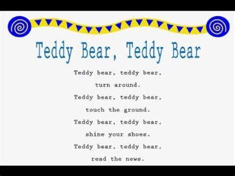 jump rope songs teddy bear teddy bear jump rope songs youtube