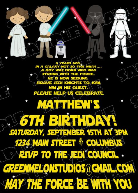 printable star wars birthday invitations template