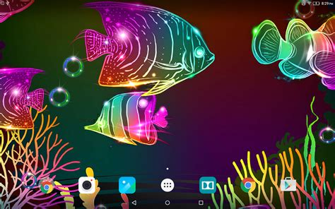 Photo Animated Live Wallpaper - neon fish live wallpaper android apps on play