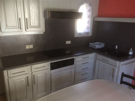 renovation meuble cuisine en chene réalisations relooking d 39 une cuisine en chêne avec