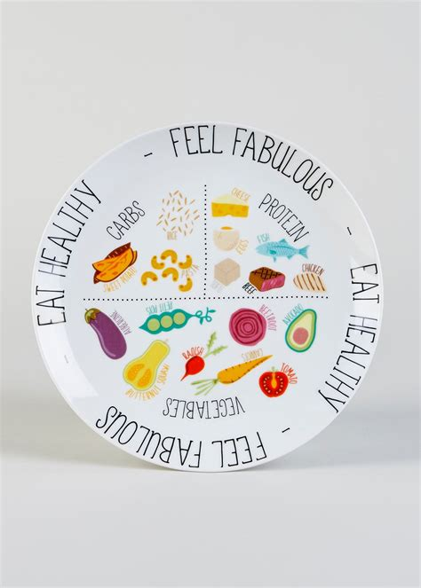 healthy eating portion plate cm white matalan