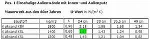 U Werte Berechnen : u wert berechnung f r au enwand dach decken fenster ganz ohne edv ~ Themetempest.com Abrechnung