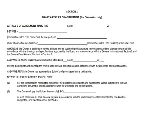 sample contract templates word google docs apple